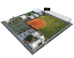 Base Ball Ground 3D model