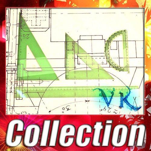 4 rulers collection 3d model max obj mtl 3ds fbx 1