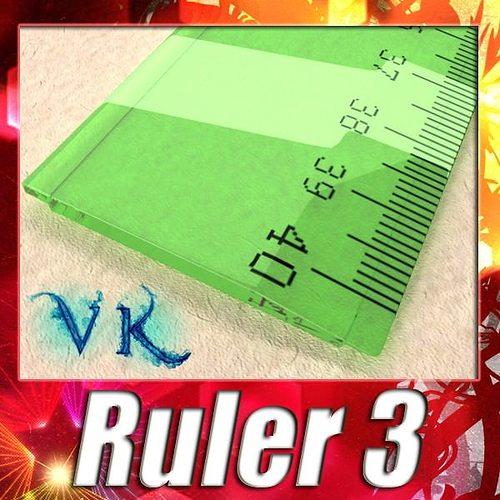 ruler 03 high res 3d model max obj mtl 3ds fbx mat 1