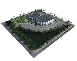 3d realistic scale model of a mall