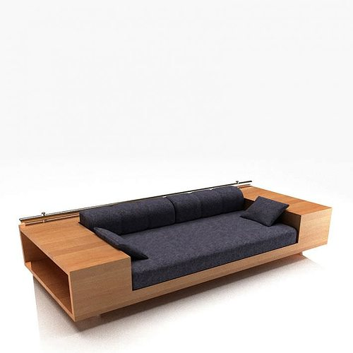 Sofa with storage drawers 3d cgtrader for Sofa with storage