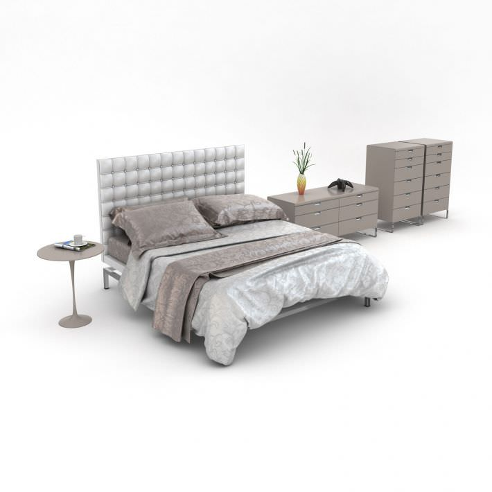 Chic Bedroom Furniture 3d Model Obj