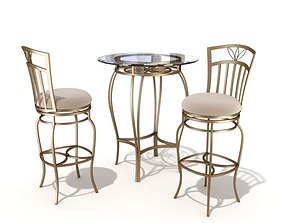 3D model Table And Chair Set