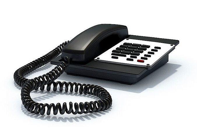 black office phone 3d model max 1
