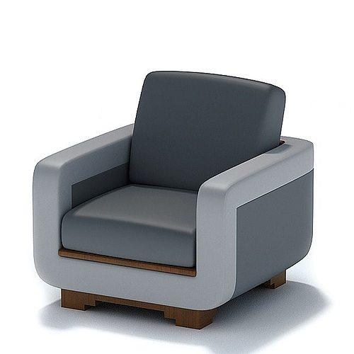 Modern Arm Chair 3D Model
