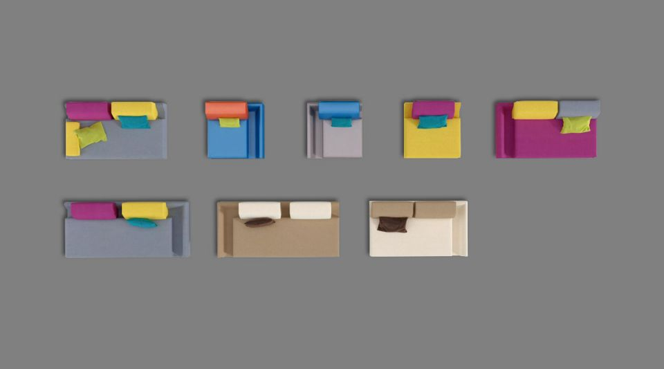Colorful Wall Organizer Office Filing System 3d Model Obj 1