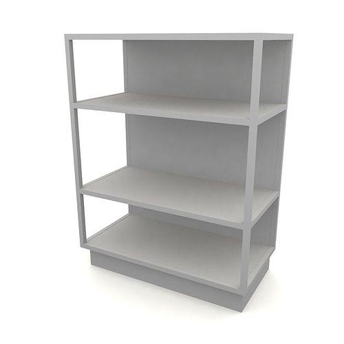 Modern white open four shelf unit 3d model - Modern white shelving unit ...