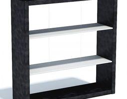 3D Black Modern Shelf