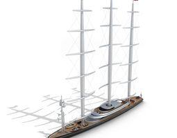 sailing ship 3d