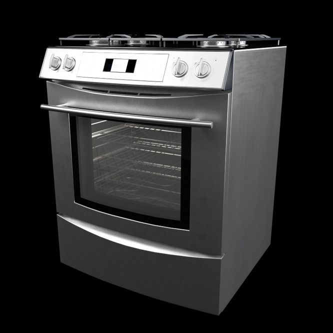 Silver Electric Stove Model