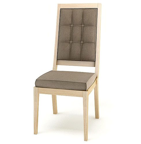Simple Wooden Chair ~ D model simple wooden cushioned chair cgtrader
