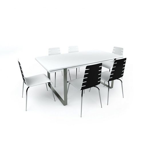 D Small Conference Table With Chairs CGTrader - Small conference table and chairs