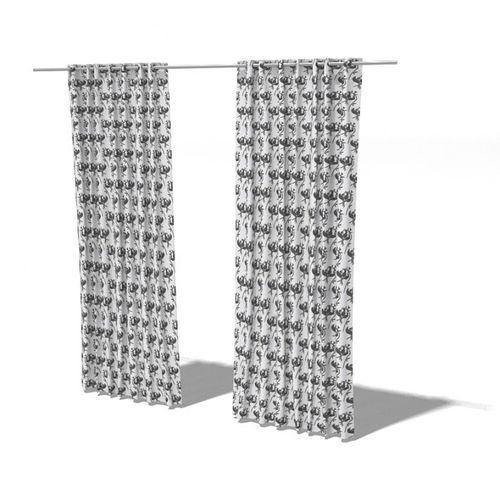 Full Length Living Room Curtains 3D Model CGTrader