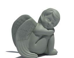3d young angel sculpture