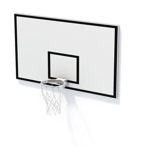 basketball net and backboard 3d model  1