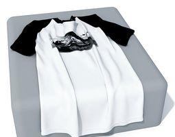 Black And White Cloth T Shirt 3D model