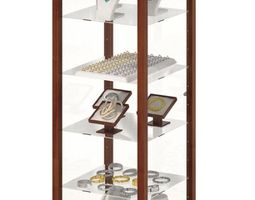 3D model Wood And Glass Jewelry Display Case