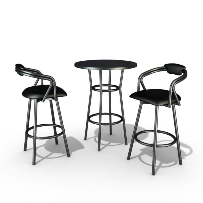 Steel Restaurant Table And Chair Set 3D model  sc 1 st  CGTrader & Steel Restaurant Table And Chair Set 3D model | CGTrader