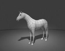 3d model horse base mesh