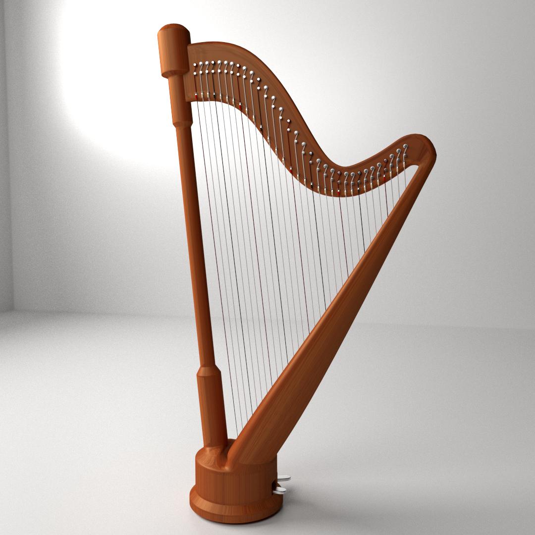 Uncategorized Picture Of A Harp concert harp 3d cgtrader model 3ds fbx stl blend dae 1