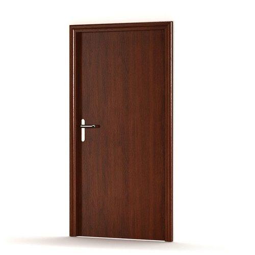 3d simple wooden door cgtrader for Wooden entrance doors