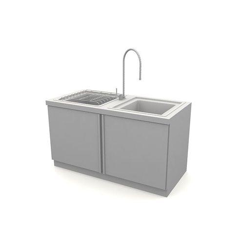 grey kitchen sink 3d model cgtrader