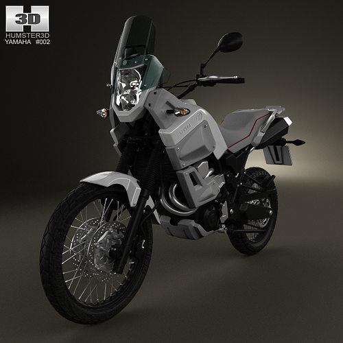 yamaha xt660z tenere 2012 3d model max obj mtl 3ds fbx c4d lwo lw lws 1