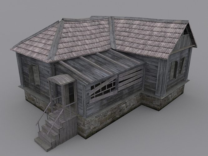 Old Wood House 3d Model Cgtrader