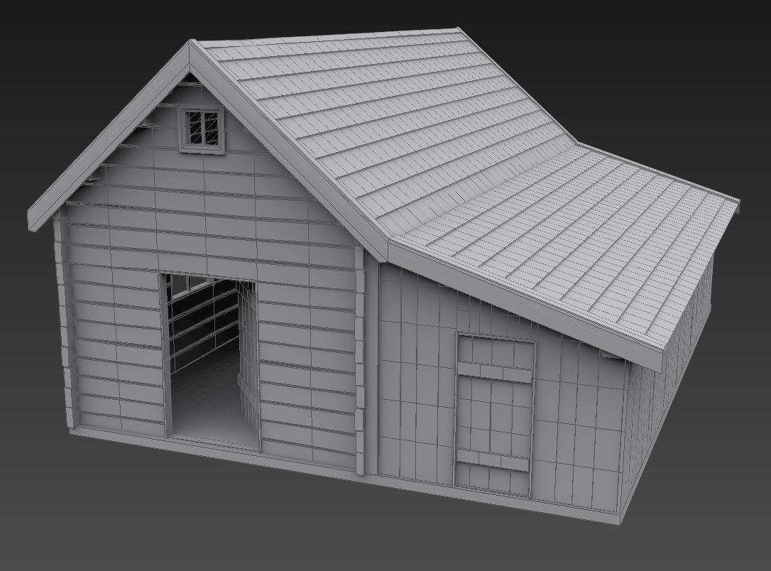 Old House 3d Model Max 4