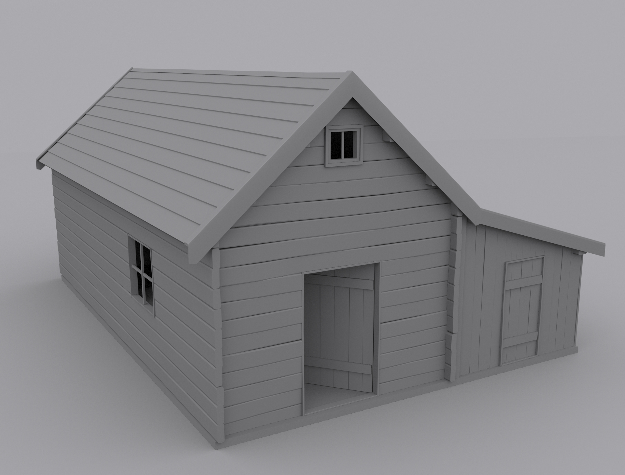 Old House 3d Model Max 1 ...