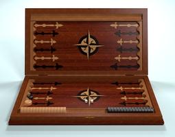 3D asset Backgammon