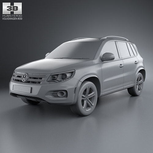 volkswagen tiguan track style r line us 2013 3d model max. Black Bedroom Furniture Sets. Home Design Ideas