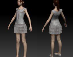 3D Girl in dress