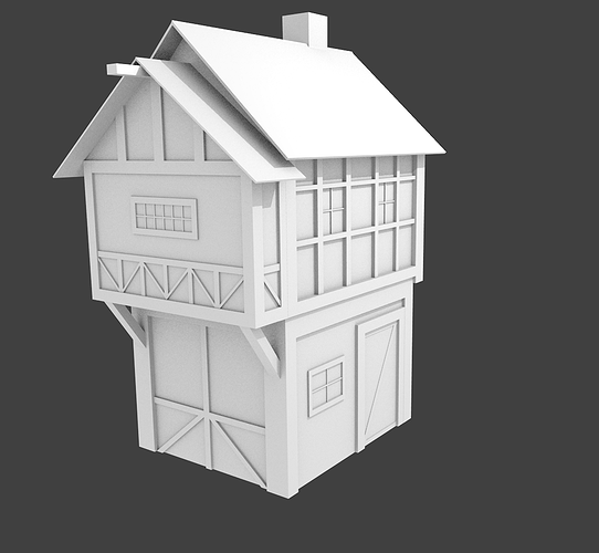 Medieval house 3d cgtrader for Exterior 3d model