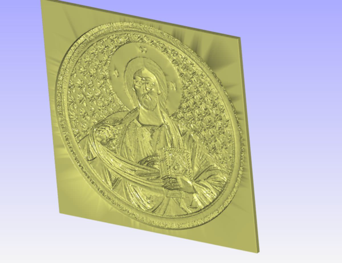 Pantocrator relief for cnc carving d model stl cgtrader