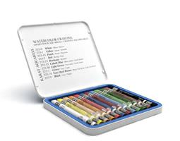 Water Color Crayons Tin 3D