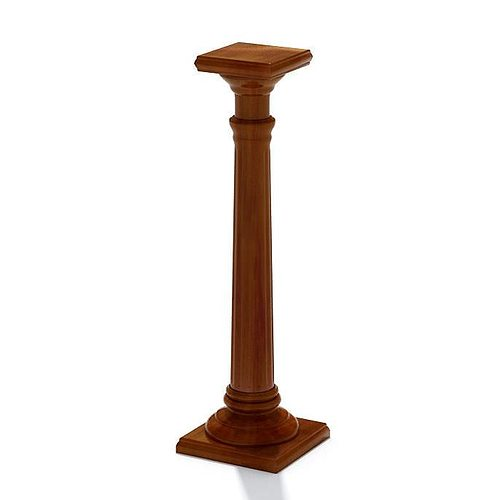 3d Classic Decorative Wooden Column Cgtrader