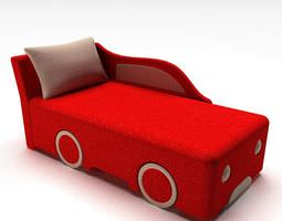 Red Child s Race Car Bed 3D model