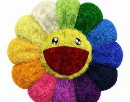colorful plush flower 3d