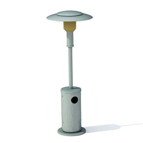 Metalic Garden Lamp 3D Model