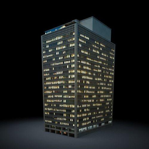 gray tall skyscraper 3d model obj 1