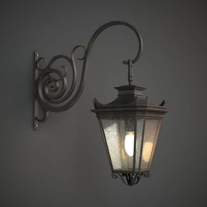 3D Classic Outdoor Wall Lamp | CGTrader