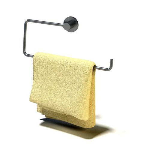 Folded hanging towel Pocket Yellow Hanging Folded Towel 3d Model Cgtrader Yellow Hanging Folded Towel 3d Model Cgtrader
