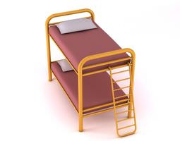 3d metal bunk bed with ladder