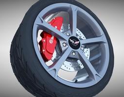 3D Corvette Grand Sport Wheel