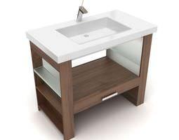 Modern Bathroom Vanity 3D