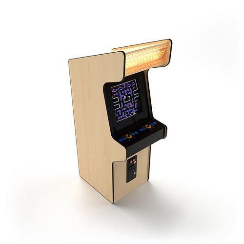 Vintage Generic Arcade Cabinet 3d Model