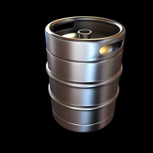 Bar cask for beer 3d model cgtrader for Food bar 3d model