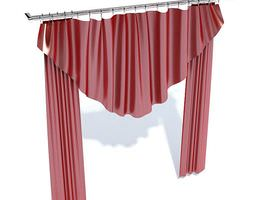 3D model Red Theatre Like Curtain Hanging