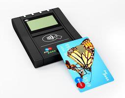 3d modern card reader